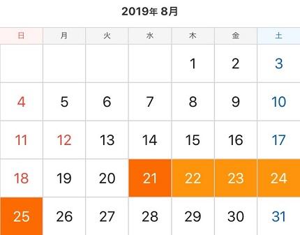 関空発 ANA 夏休み期間中【後半】
